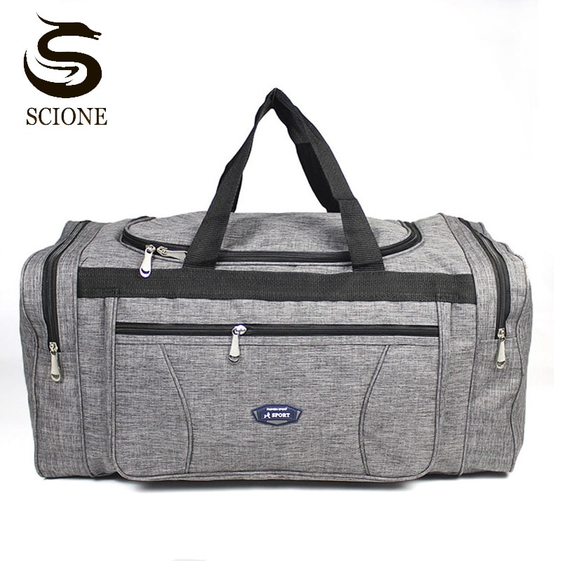 Bolsa de viagem de oxford saco de bagagem de bagagem de viagem de grande capacidade de weekender holdall durante a noite ginásio saco de desporto xab1
