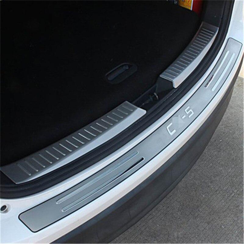 Traseiro exterior pára protetor guarnição do peitoril da porta scuff placa de cobertura acessórios apto para mazda CX-5 cx5 2013 2014 2015 2016 estilo do carro