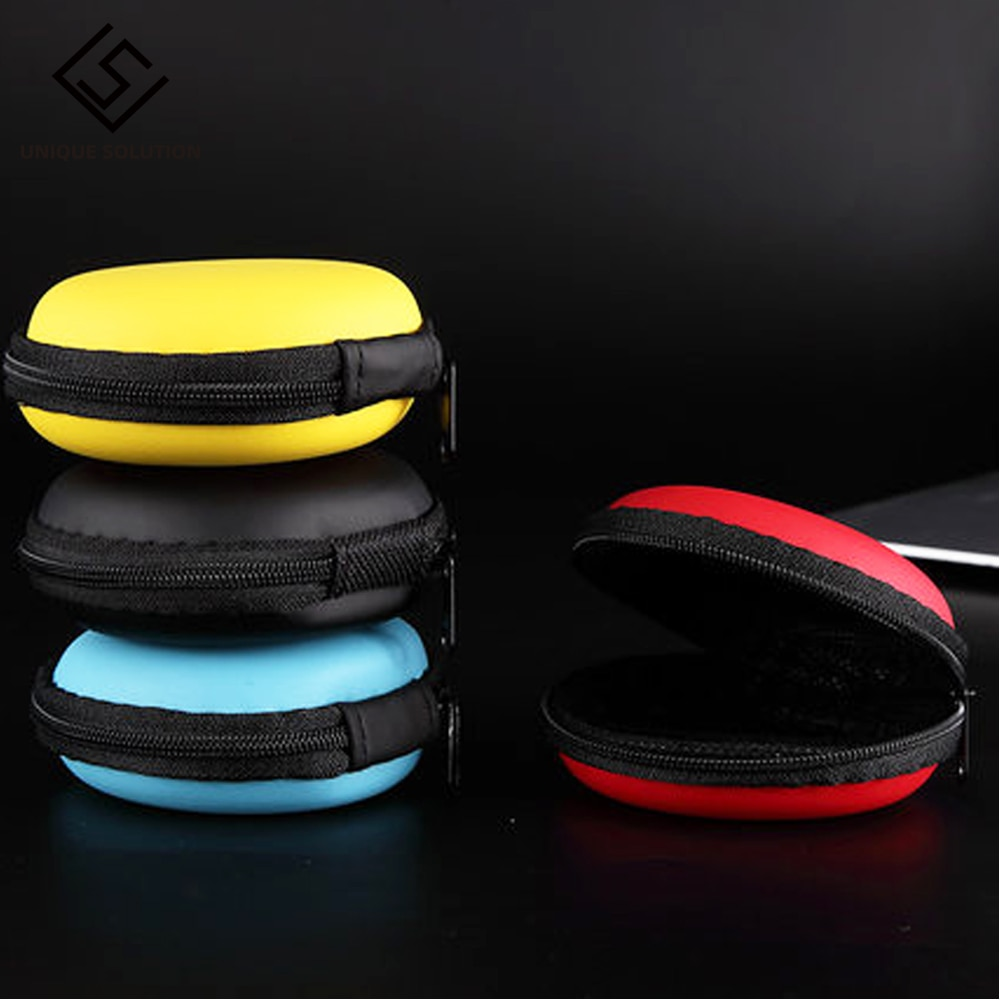4 colour Portable Data Cable Storage Bag Earphone Wire Organizer Case for Headphone Line Headset Closet Organizer Storage Box