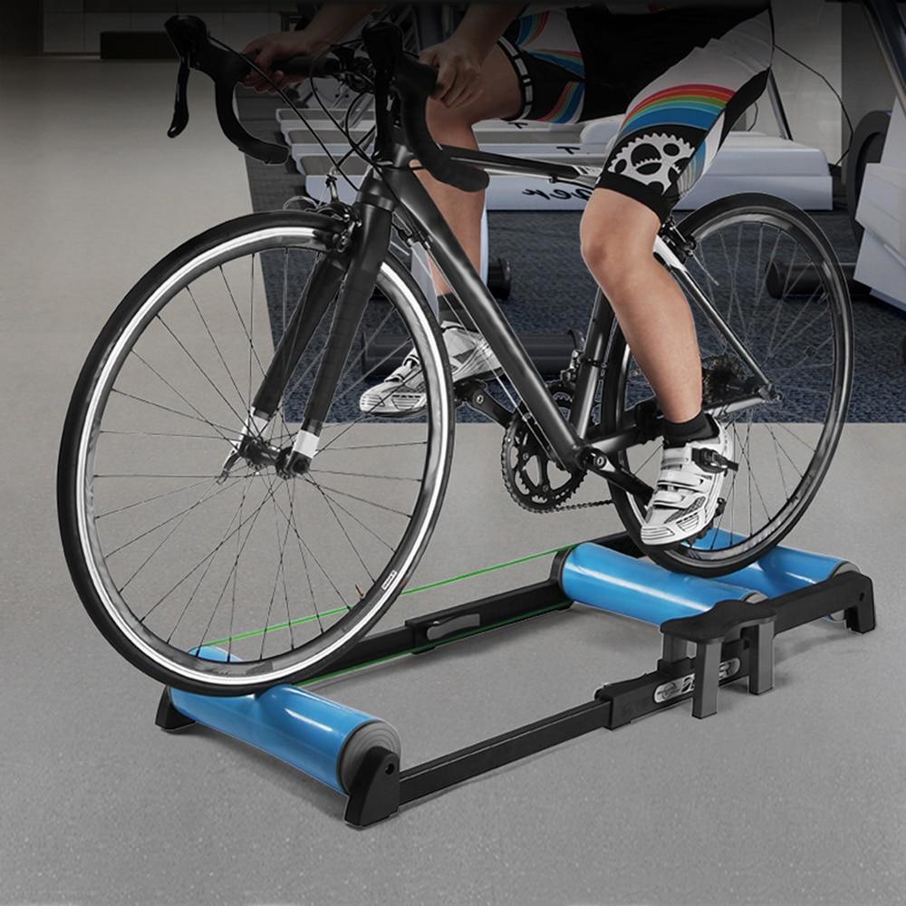 Soporte de entrenamiento de bicicleta telescópico, estacionario de interior, ejercicio, ciclismo, rodillo de entrenamiento MTB, bicicleta de montaña, bicicleta de carretera, estación de ejercicio