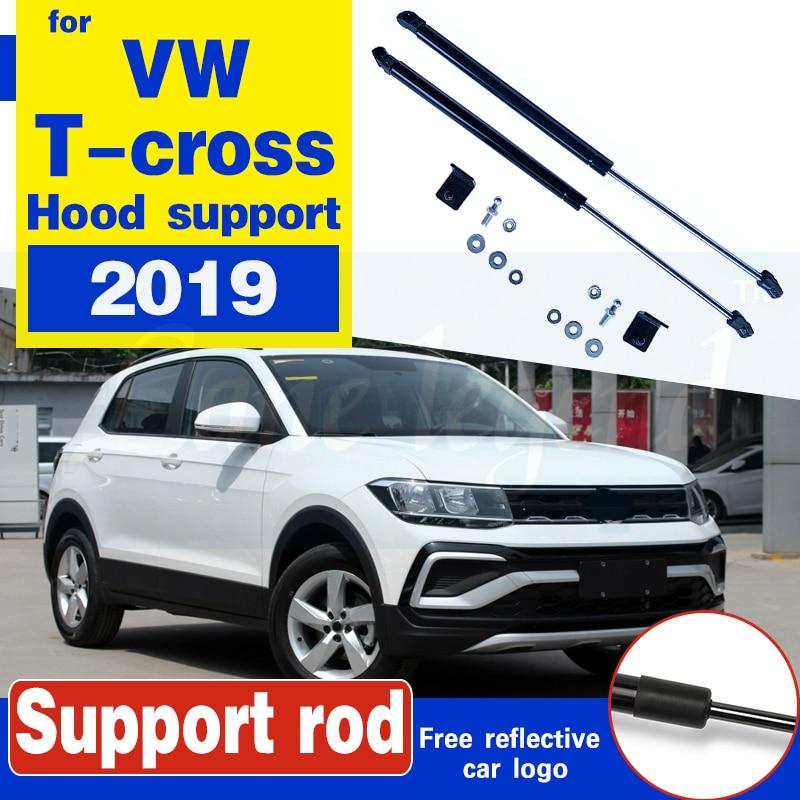 Car Bonnet Cover Hood No Drilling/Welding Support Spring Shock Bracket Strut Bars Hydraulic Rod for VW T-cross Tcross 2019