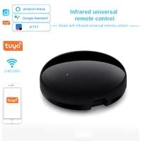 Tuya     telecommande universelle pour climatiseur  wi-fi IR  pour maison connectee  compatible avec appareils vocaux Alexa et Google Assistant