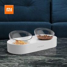 Xiaomi mijia PETKIT, Bol para mascotas, platos de alimentación, cuencos de alimentación dobles ajustables, cuencos de agua para gatos, cuencos para beber de Xiaomi Youpin