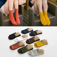 women socks breathable ankle socks solid color short casual comfortable pure cotton cute girl elastic soft breathable socks