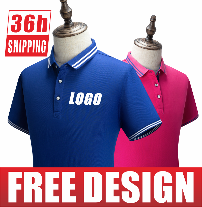 Custom printing and embroidery of the new business short-sleeved Polo shirt for the summer of 2021