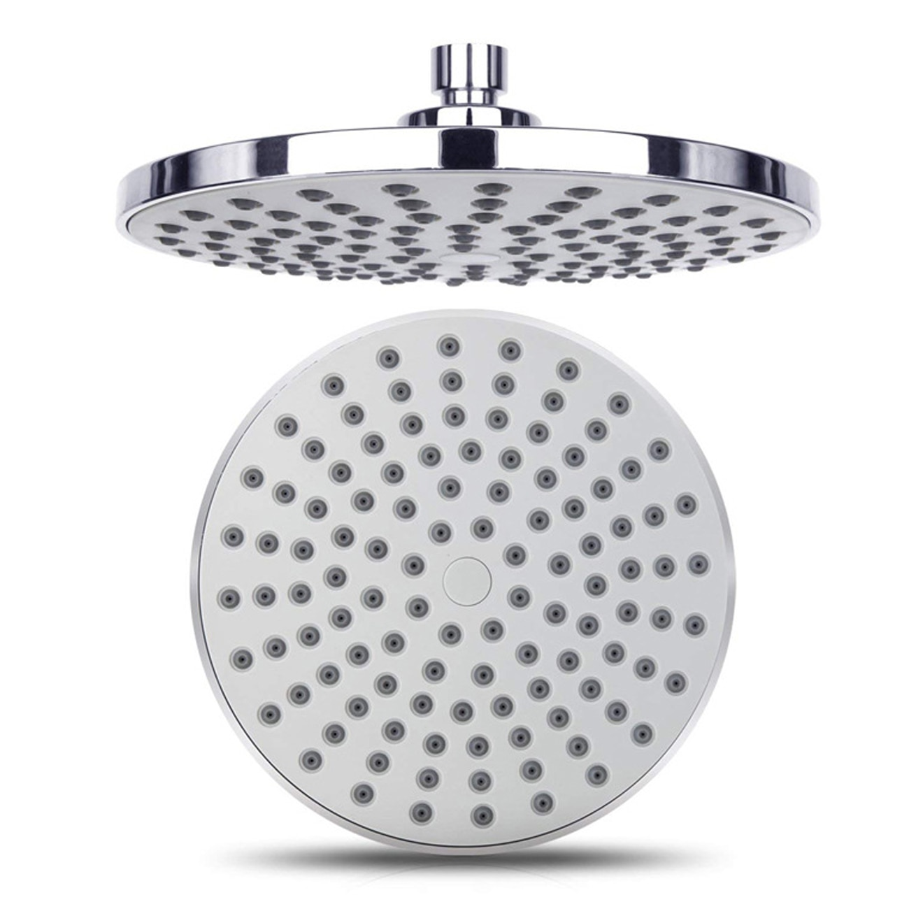High Pressure 8-Inch Round Fixed Shower Head Rainfall Shower Head Shower Faucet Shower Head Bathroom Accessories bakala bathroom led shower set 2 functions led digital display shower mixer concealed shower faucet 8 inch rainfall shower head