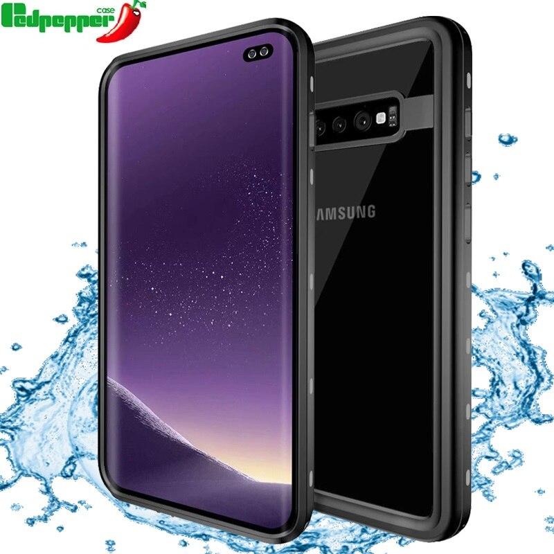 Redpepper IP68 impermeable funda para Samsung Galaxy Nota 10 Plus 9 S20 ultra S10E más S10 5G bajo el agua de 3m a prueba de golpes caso duro