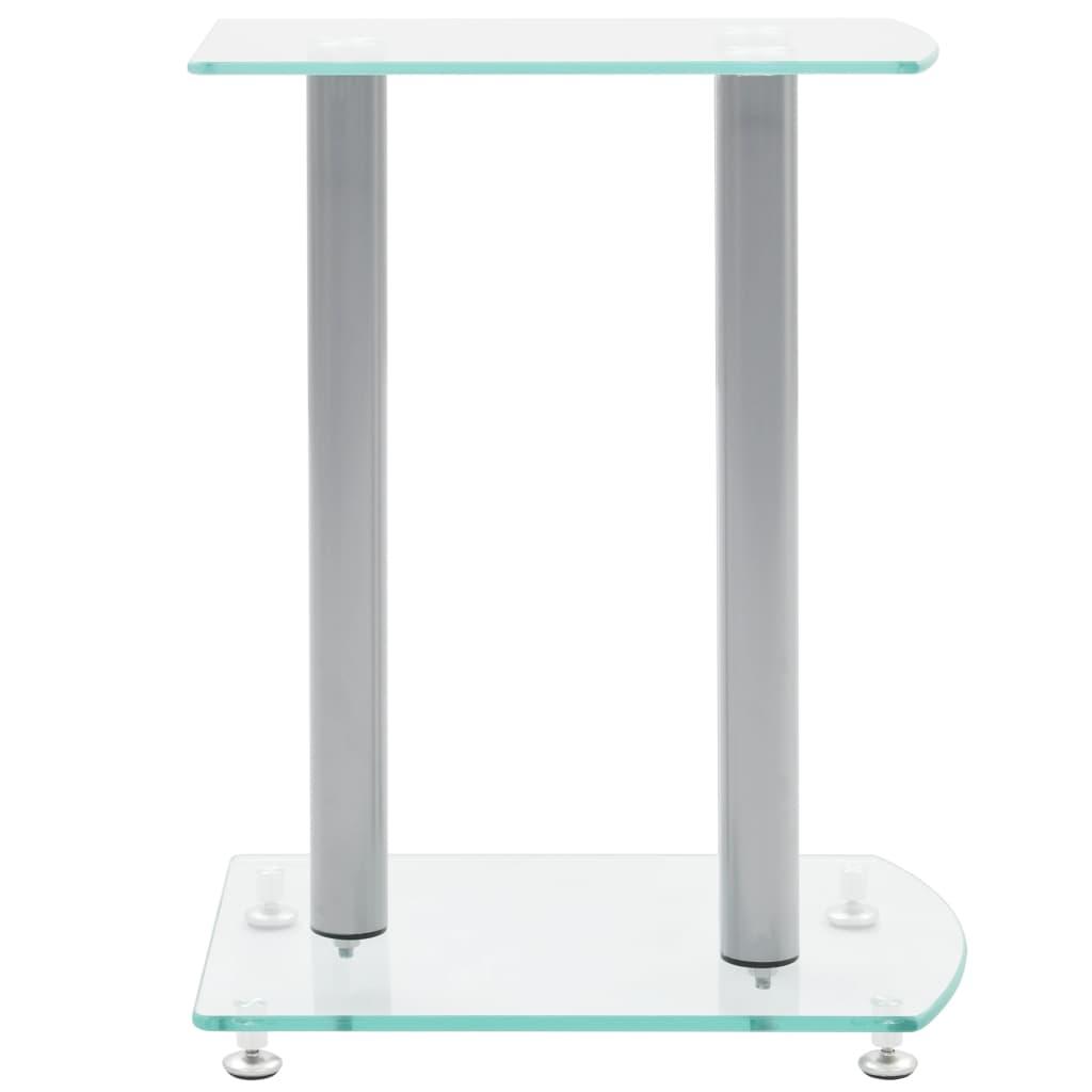 Aluminum Speaker Stands 2 pcs Transparent Safety Glass enlarge