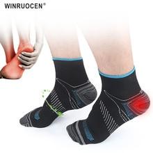 Foot Compression Socks For Men Women Plantar Fasciitis Heel Spurs Pain Casual Cotton Sock Venous New