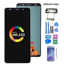 Super Amoled Für Samsung Galaxy A7 2018 A750 SM-A750F LCD Display mit Touch Screen Digitizer Montage Für Samsung A750 LCD