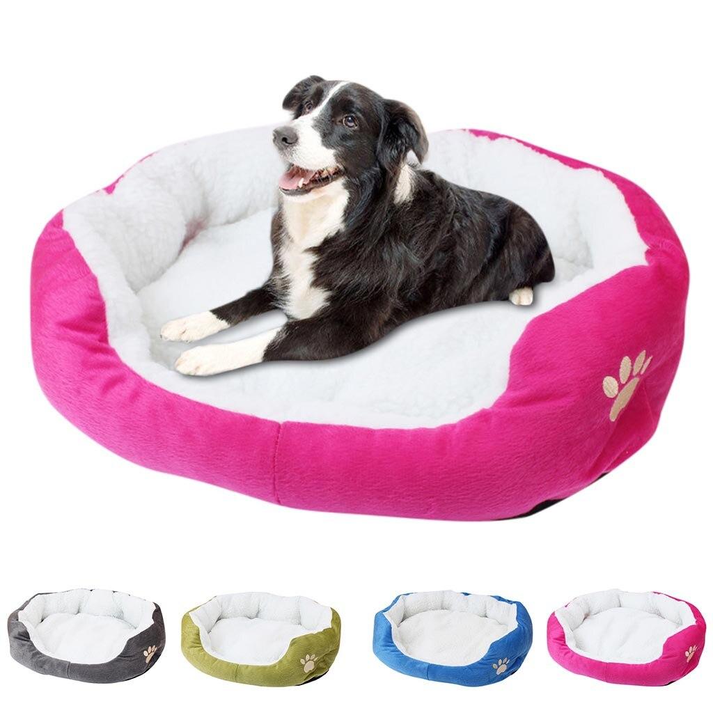 Теплая Флисовая кровать для питомца, собаки, щенка, кошки, плюшевый уютный коврик-гнездо, домик для питомца, кровать, диван, спальный мешок, зимнее гнездо, будка для собак, коврик