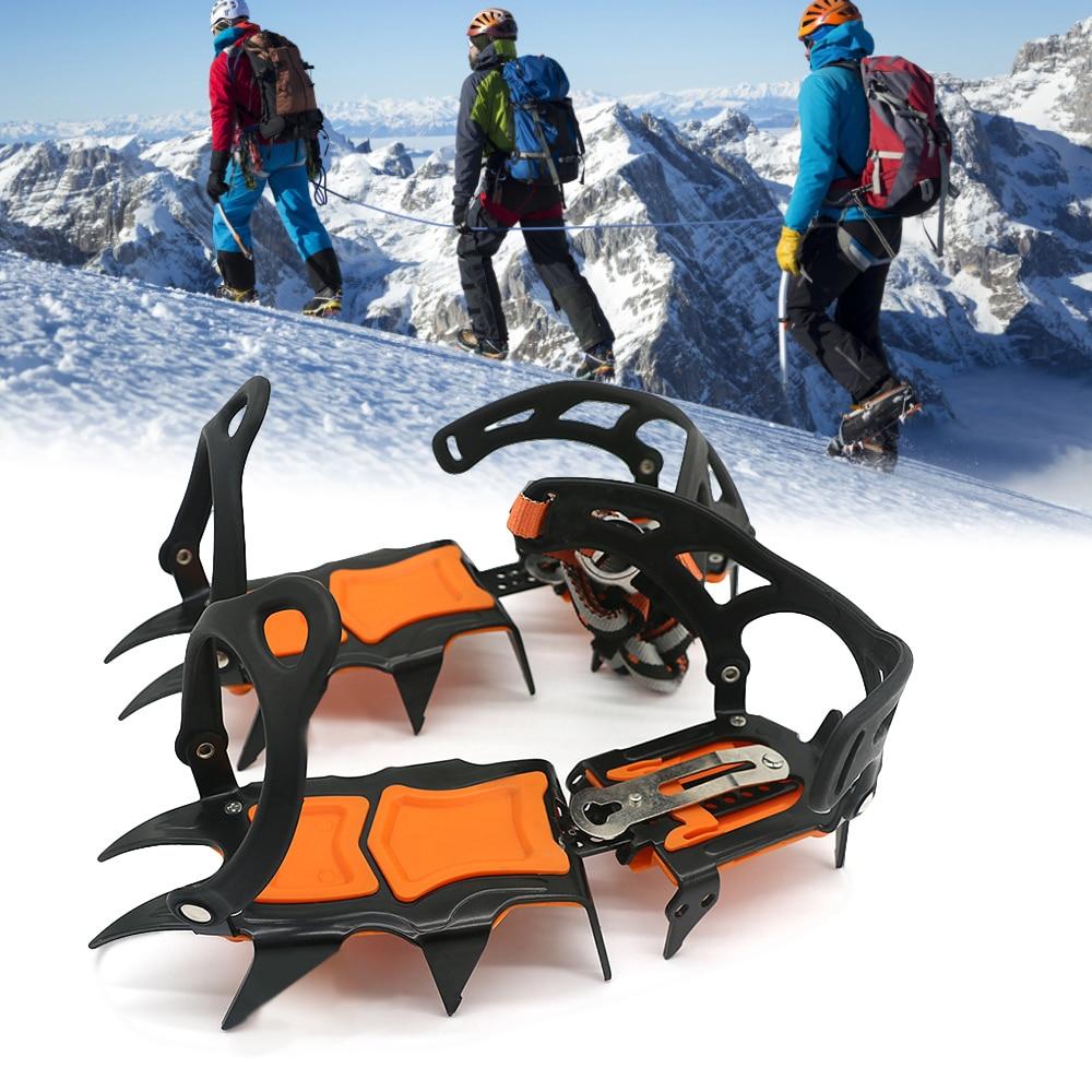 حذاء برقبة للثلج مع 12 سن ، حذاء برقبة للثلج ، مقاوم للانزلاق ، معدات التسلق ، جر الثلج