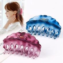 South Korea Large Hair Clip Simple Grip Up-do Hair Clip for Bath Hairpin Clip Hair Claw Drop-resista