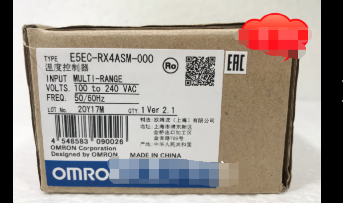1PC  NEW   Omron   E5EC-RX4ASM-000    free  shipping