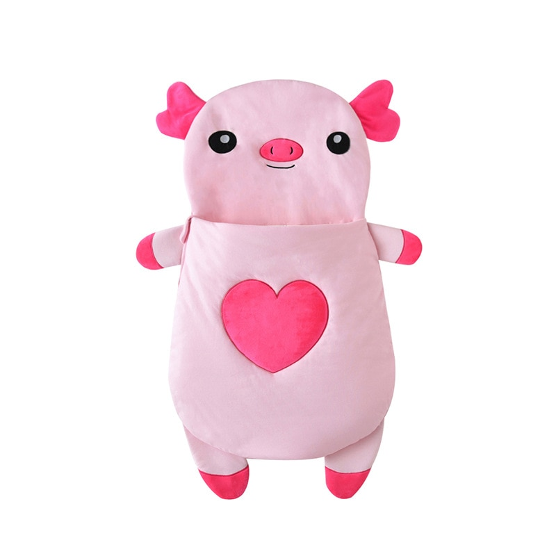 2019 nuevo invierno Sacos de dormir para bebés Animal cerdo Footmuff para cochecito caliente bebé dormir saco inflable manta envolvente