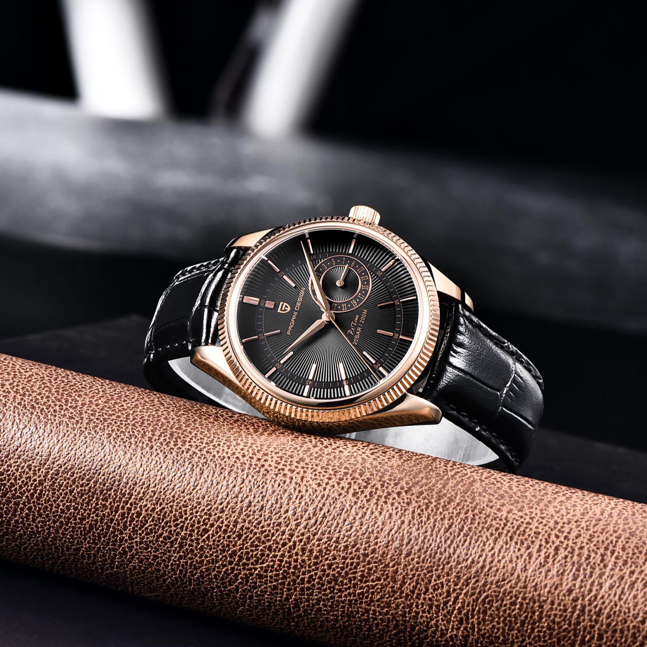 Pagani Design 2021 New Men Quartz Watch Top Brand Watches 200m Automatic Waterproof Clock Luxury Leather Watch Relogio Masculino enlarge