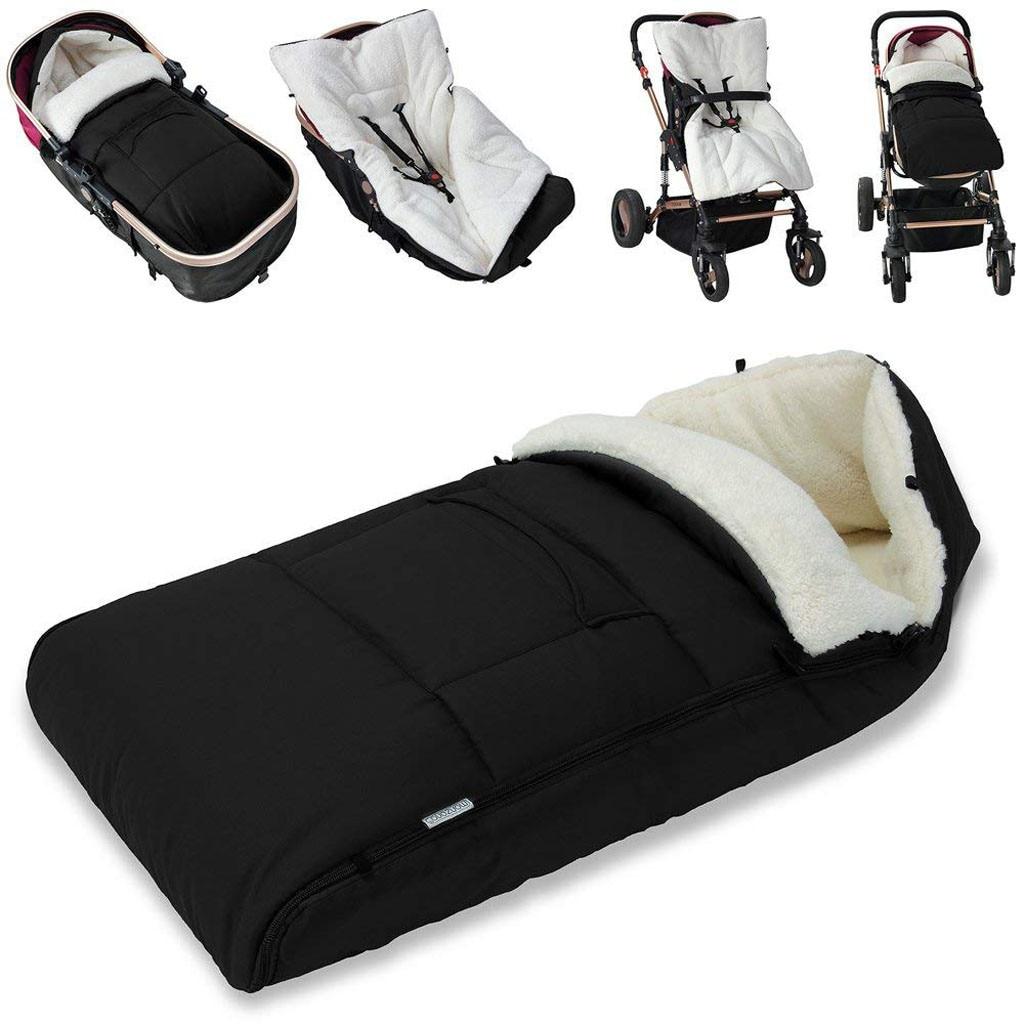 Bebé niño recién nacido Universal saco acogedor los dedos de los pies delantal de Buggy cochecito de lana caliente forro acolchado cochecito Buggy
