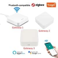 tuya zigbee smart gateway hub bluetooth compatible smart life app wireless remote controller works with alexa google home