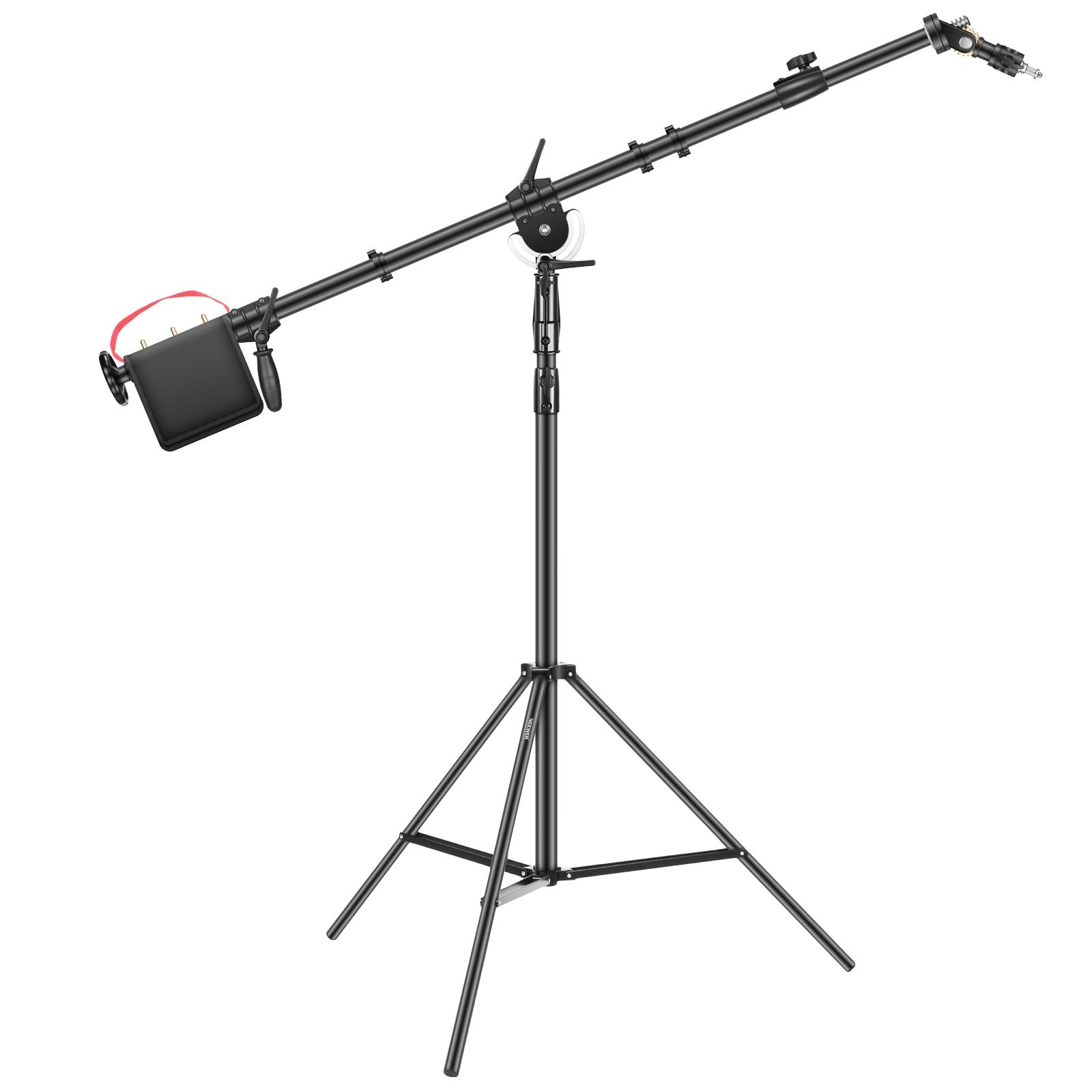 Neewer-حامل ضوء التصوير الفوتوغرافي مع ذراع ذراع ذراع Pro ، حامل ثلاثي القوائم مقاس 88.5 بوصة/225 سنتيمتر مع شريط عرضي 252.5 سنتيمتر لـ Monolight ستروب Softbox