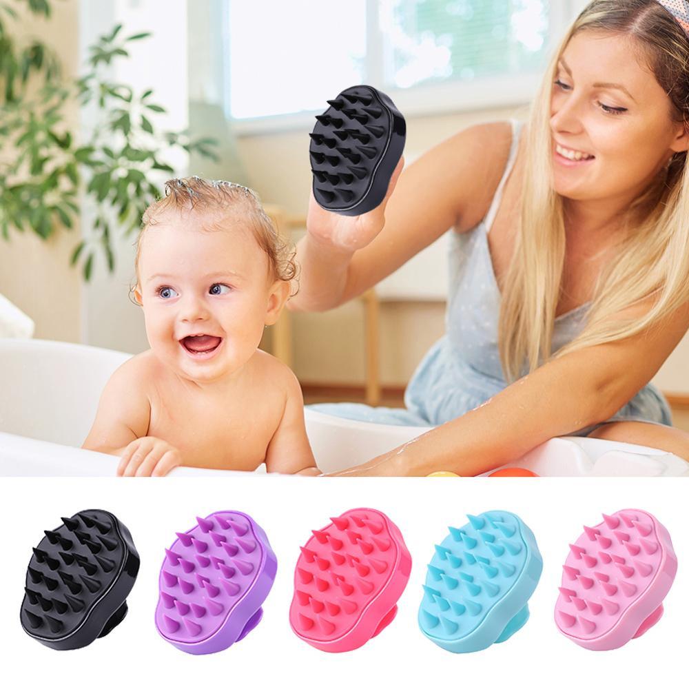 1PC Scalp Massage Brush Comb Silicone Head Body  Shampoo Hair Washing Shower Bath Spa Slimming