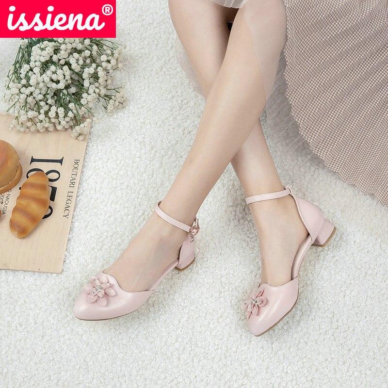 ISSIENA-حذاء برنسيس جلد للبنات ، حذاء كاجوال مزين بالورود والترتر ، كعب منخفض ، عقدة فراشة ، مقاس 28-39