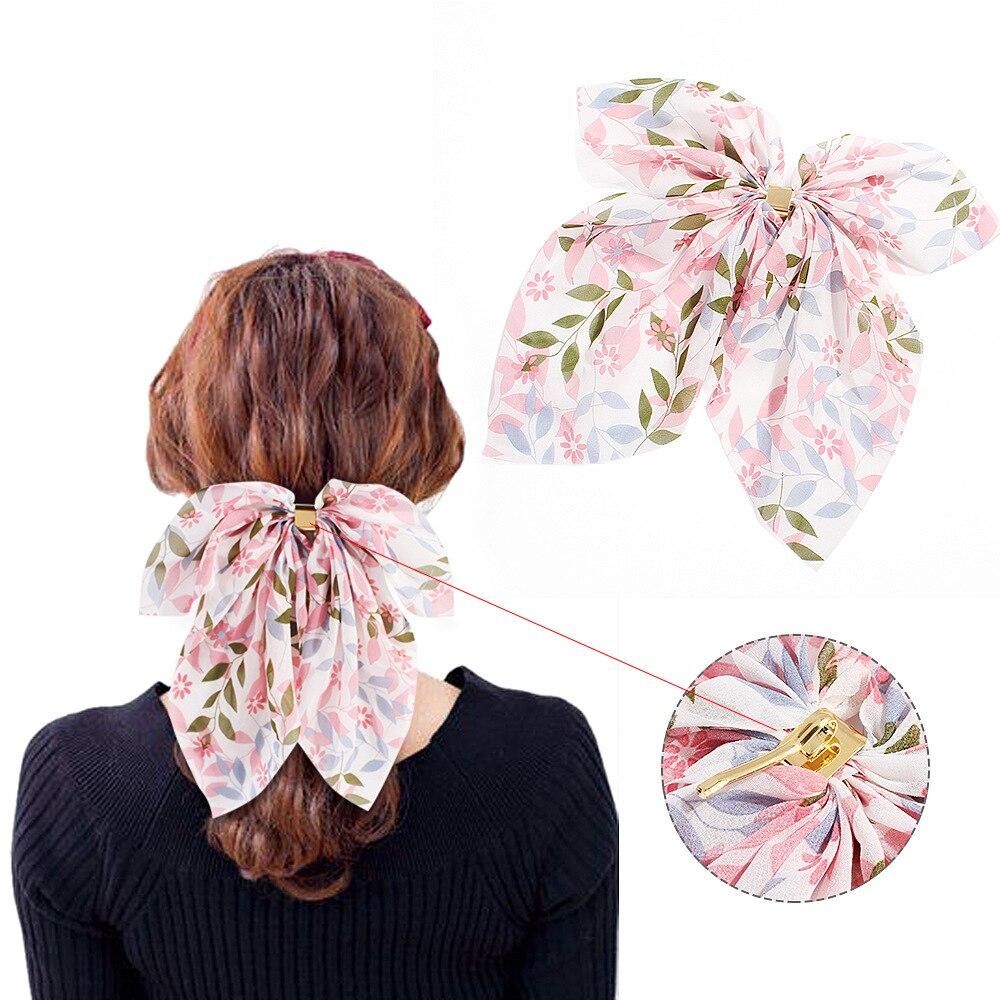 Fashion summer Ponytail Scarf Elastic Hair Rope for Women  Hair Rope Girl Floral Turban Casual Headwear Ribbon Hairbands