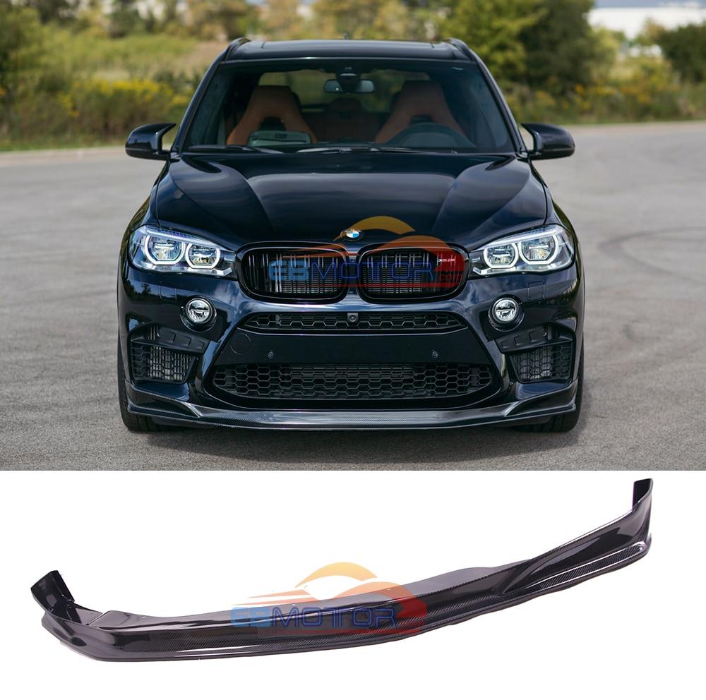 سبويلر الشفة الأمامية للسيارة من ألياف الكربون الحقيقية لسيارات BMW F86 X6M F85 X5M 2015UP B434
