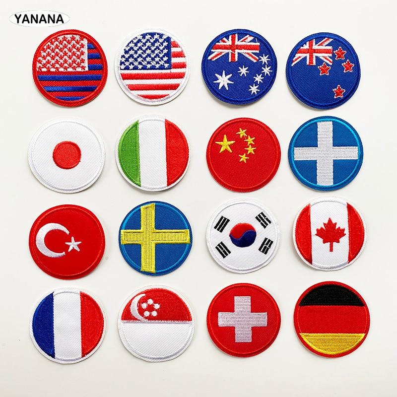 Parche de bandera nacional Banderas del mundo emblema nacional, Parche de rayas, armadura, ropa, mochila vaquera, decoración con parches, accesorios