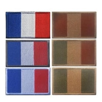 french flag 3d embroidery armband military tactics french soldier logo morale badge camouflage clothing backpack hat patch