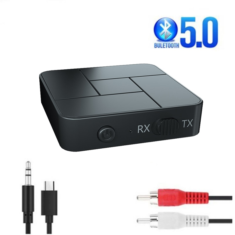 Bluetooth 5.0 Receiver Transmitter 3.5mm AUX Jack RCA USB Dongle Wireless Audio Adapters Handsfree C