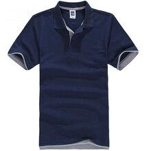 2021 Summer Polo Shirt Men Casual Cotton Solid Color Polos Men's Breathable Short Sleeve Tee Shirt G
