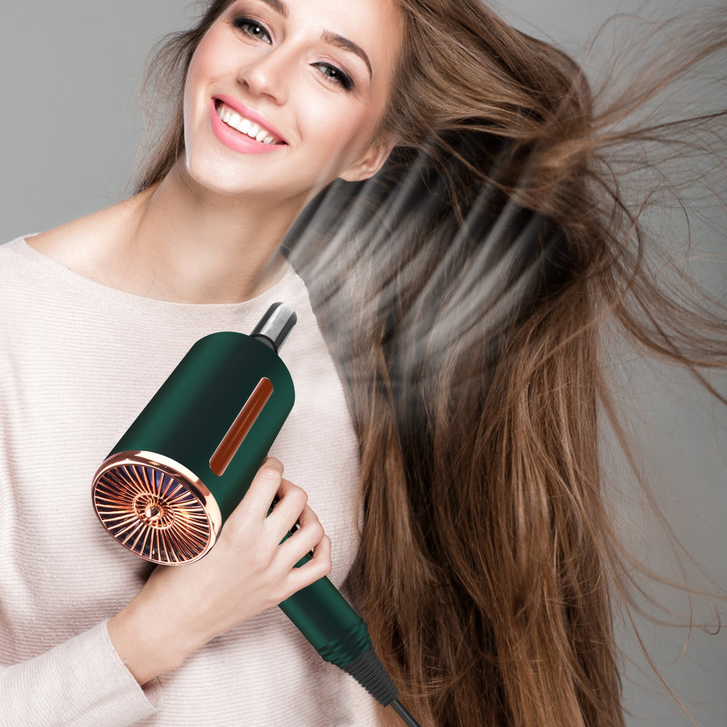 Professional Hair Dryer Strong Wind Salon Dryer Hot Air Brush&Cold Air Wind Negative Ionic Hammer Blower Dry Electric Hair Dryer enlarge