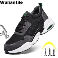waliantile safety work shoes boots for men male anti smashing indestructible shoes security puncture proof working boots men