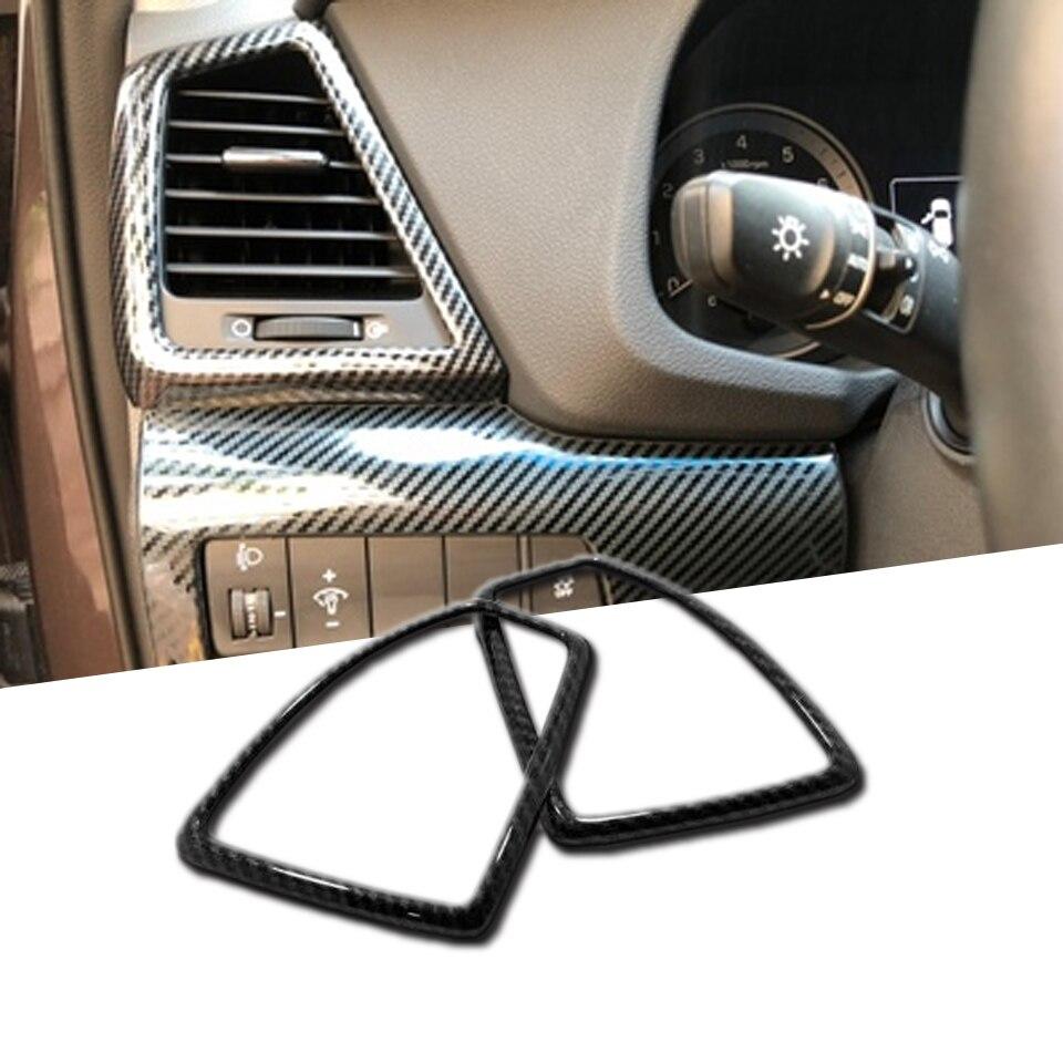 Aire acondicionado AC Vent cubierta delantera derecha izquierda salida de aire Trim Sticker para Hyundai Tucson 2019 2020 accesorios de protección del coche