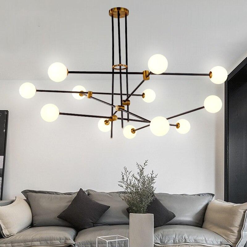 Lámpara colgante con forma de molecula nórdica, comedor, dormitorio, cocina, Isla, Rama, Burbuja, candelabro, lámpara moderna de mediados de siglo para decoración del hogar