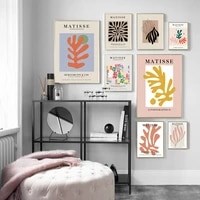 matisse artwork colorful leaf abstract wall art canvas painting nordic posters and prints wall pictures for living room decor