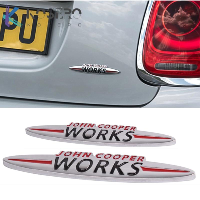 JCW 3D decoración etiqueta engomada accesorios de modificación para BMW MINI Cooper...