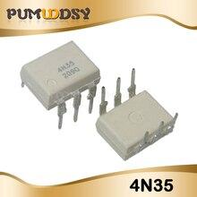 10PCS 4N35 DIP DIP6 photoelectric coupler new original free shipping IC