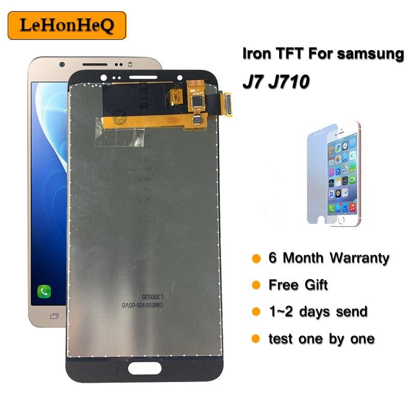 ЖК-дисплей TFT для samsung Galaxy J710, ЖК-дисплей для Samsung J7 2016, J710FN, J710F, J710M, J710, цифровой преобразователь сенсорного экрана в сборе