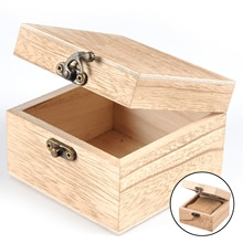 DIY Unpainted Wooden Watch Case Jewelry Bangle Bracelet Display Box with Removable Cushion