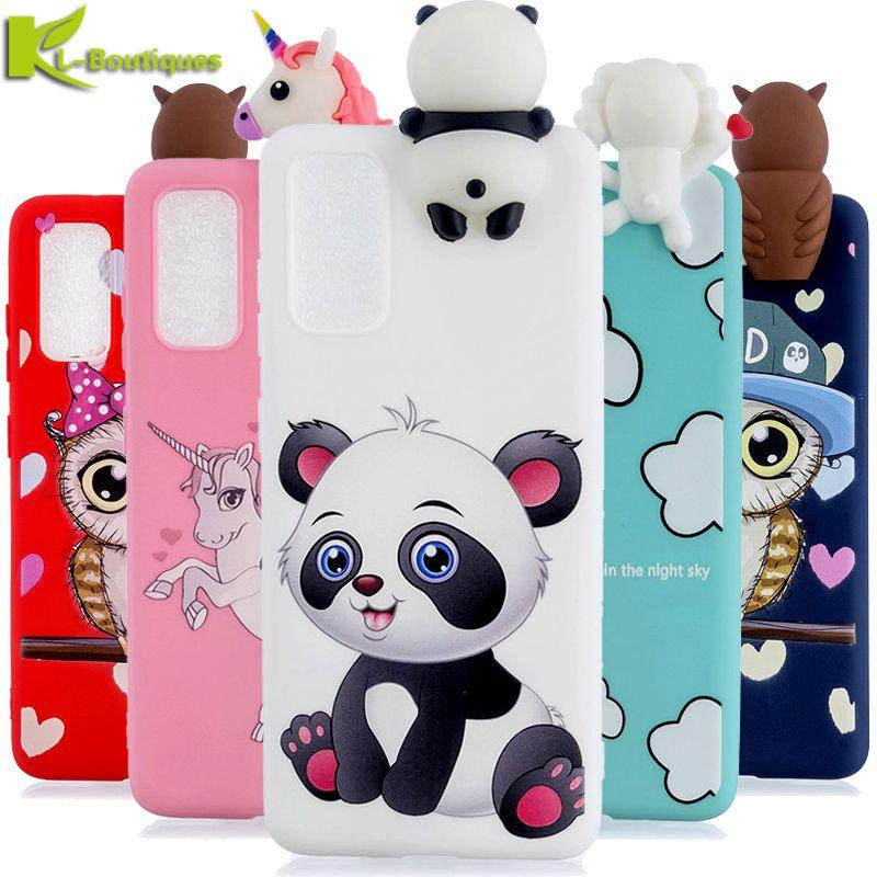 on For Samsung A51 Case sFor Fundas Samsung Galaxy A 51 A51 A515F Phone Case 3D Panda Doll Toy Cartoon Soft Silicone Cover Coque