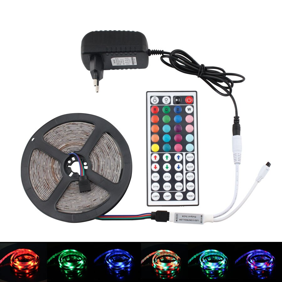 12V RGB LED de luz de tira impermeable de Ambilight TV Fondo 5M 10M 2835 NeonLED Luz de tira completa Kit al aire libre Twinkel luces