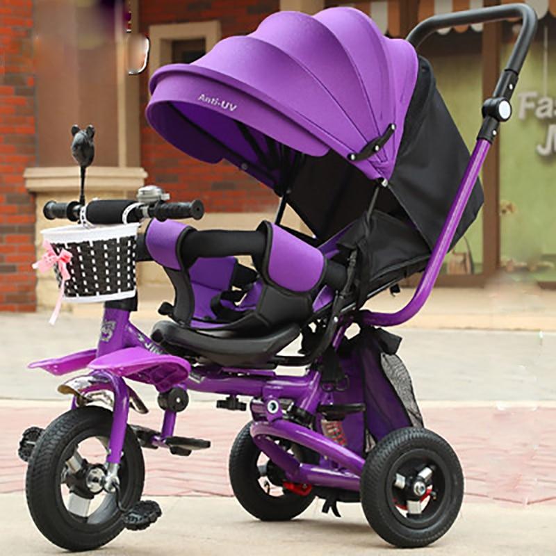 الأطفال دراجة ثلاثية العجلات دراجة أطفال ثلاث عجلات عربة طفل رضيع ثلاثية العجلات 3 عجلة دراجة طفل ترايك بنين بنات هدية عيد ميلاد