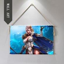 Welt von Warcrafts Sylvanas Jain Hängen Wand Kunst Poster wand bilder für wohnzimmer Tuch scroll malerei cuadro decorativo