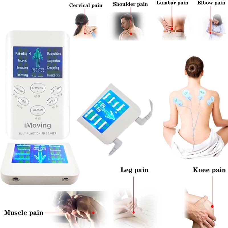 Tens EMS Unidad de rodilla masajeador de cuello a electro pulso Estimulador muscular electrodo Pad Digital alivio del dolor por terapia masajeador