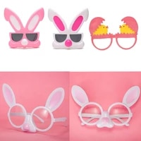 easter bunny glasses mask prom glasses birthday party funny dress up chicken props birthday rabbit glasses frames