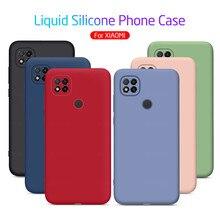 Redmi9c custodia Cover posteriore morbida in Silicone liquido Color caramella per xiaomi redmi 9c 9 c c9 red mi 9c nfc cover per smartphone