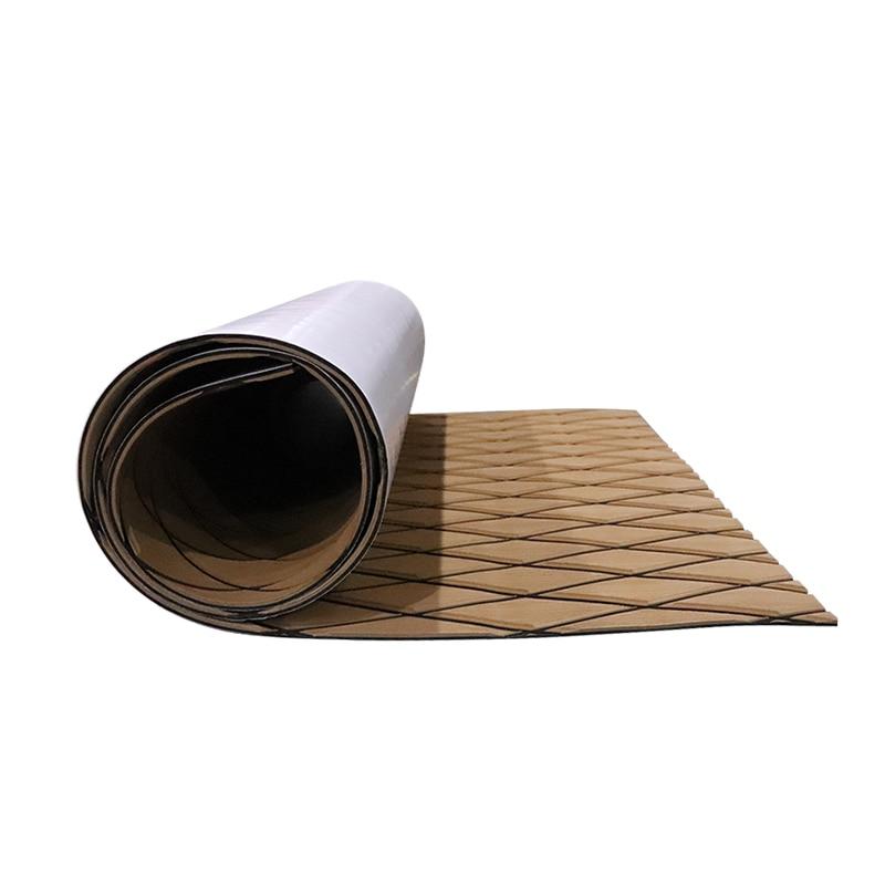 Self Adhesive Non-Skid Boat Flooring Decking Pad EVA Foam Faux Teak Marine Decorative Mat Protective Carpet Boat Accessories enlarge