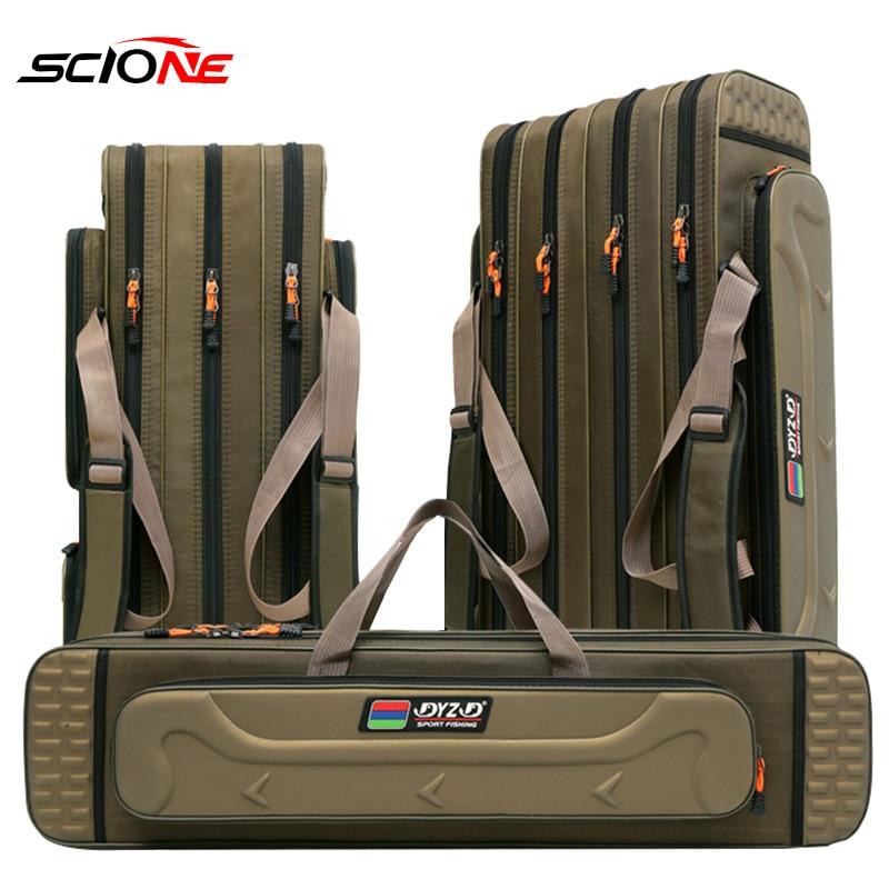 2/3/4 layer 80/90/100/120CM Fishing Bag Multifunctional Fishing Rod Reel Lure Pole Storage Bag Case