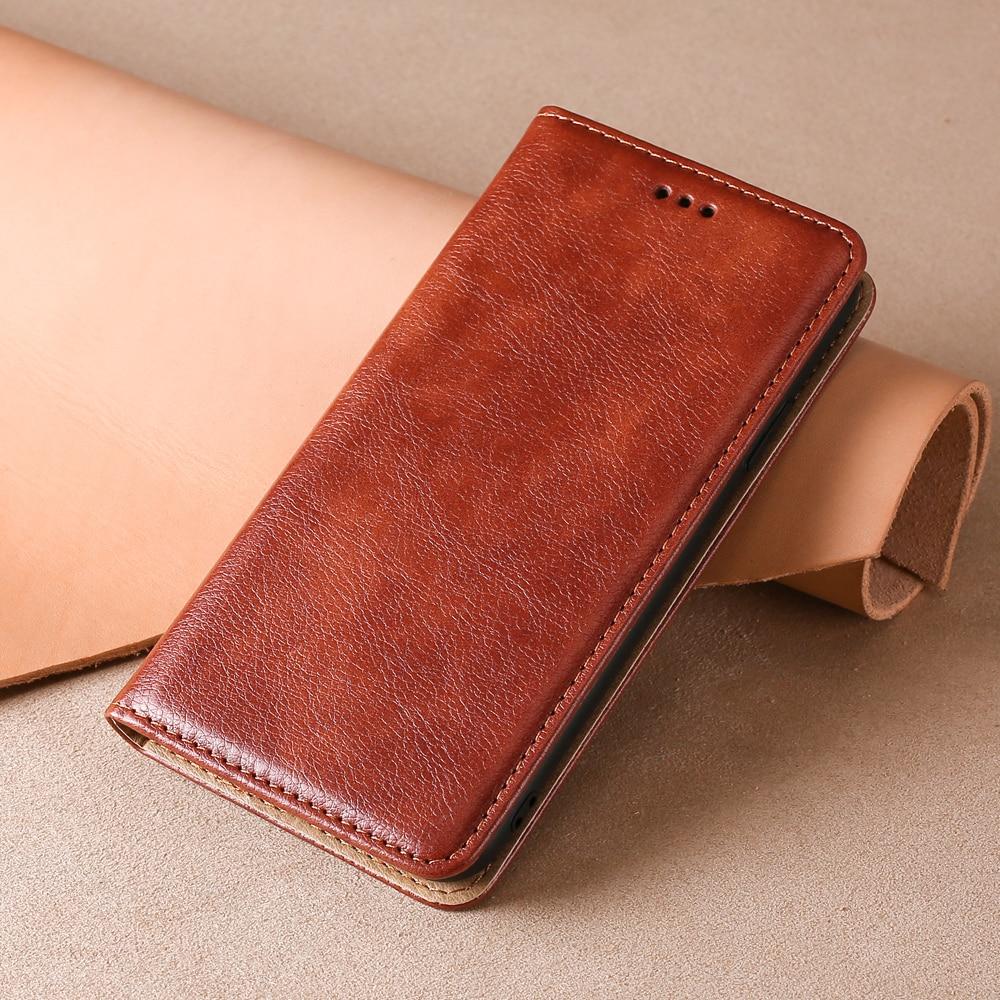 Deri cüzdan Flip Case ASUS Zenfone ZS630KL 6Z 6 2019 ZB634KL ZB631KL ZB632KL Max pro artı M2 kapak manyetik kart yuvası